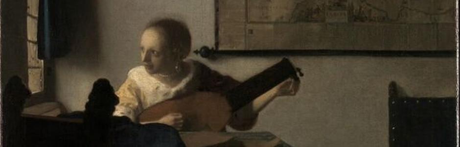Vermeer,La donna con il liuto dal Metropolitan Museum