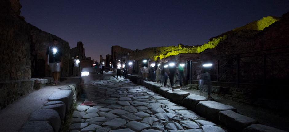 POMPEII, ENCHANTMENT AT NIGHT