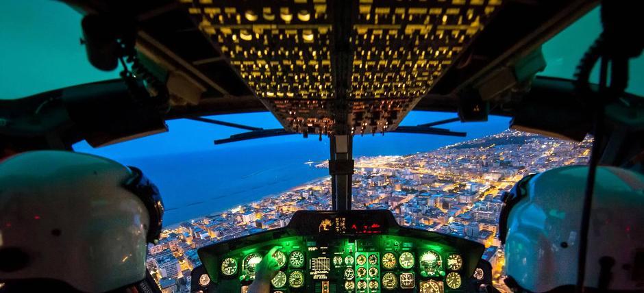 Orizzonti d'Italia dagli elicotteri della Polizia di Stato