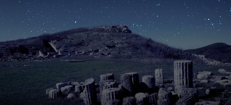 Monte Iato sotto le stelle