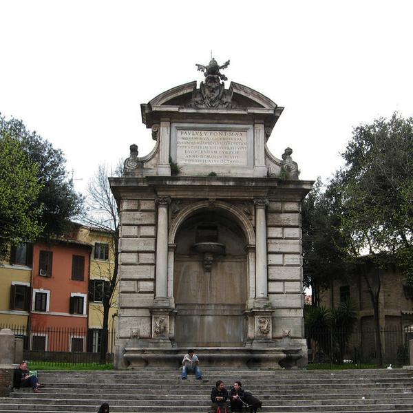 La fontana di Ponte Sisto
