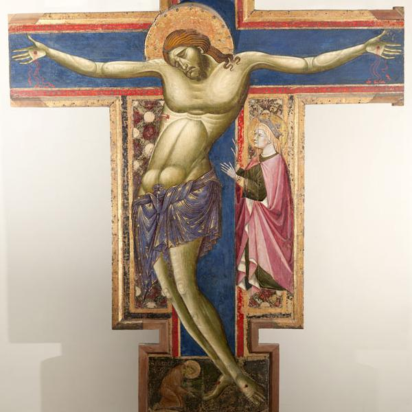 Crucifix by the Maestro of the Franciscan Crucifixes (from Borgo San Pietro)