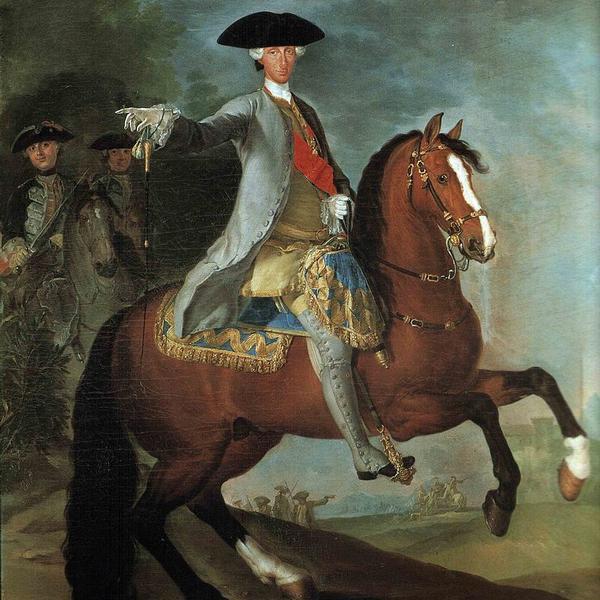 Carlo di Borbone in tenuta da caccia