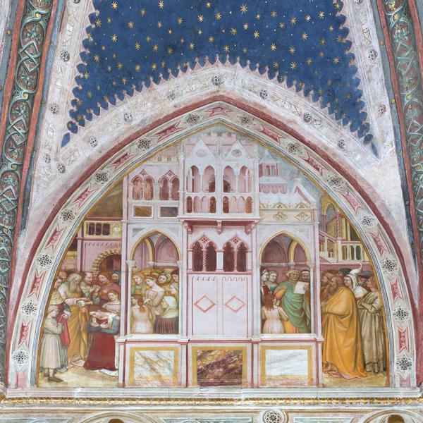 Chapel of San Giacomo: Crucifixion; Stories of St. James