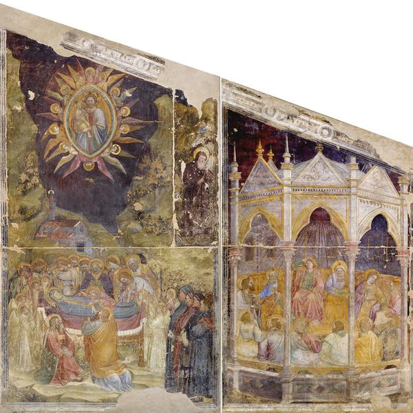Fresco cycle with Stories of the Virgin