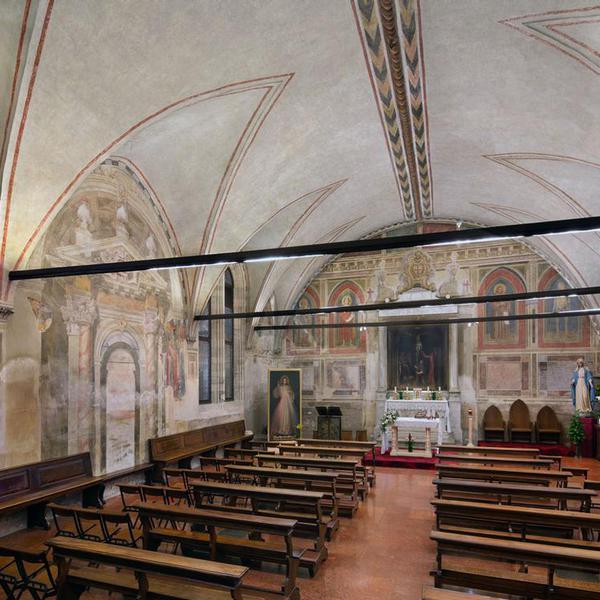 Sala del Capitolo: Crocifissione; Scene della vita di San Francesco e Santi