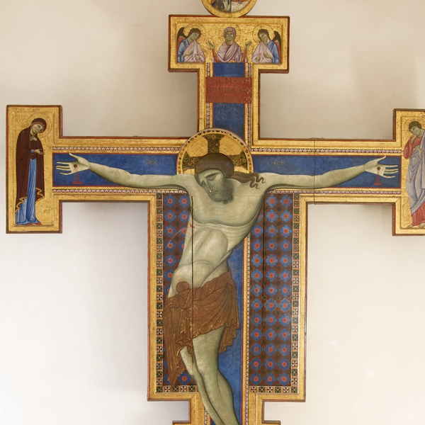 Painted Crucifix