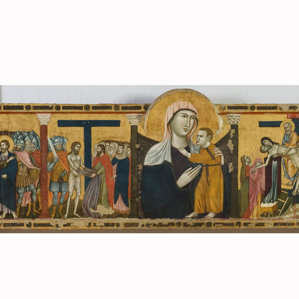 Altar frontal with Madonna and Child with scenes of the Passion