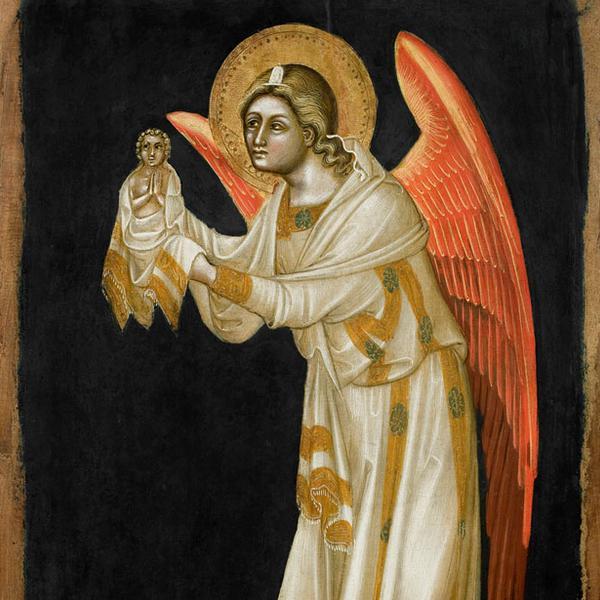 Schiere angeliche; Madonna con Bambino; San Marco Evangelista