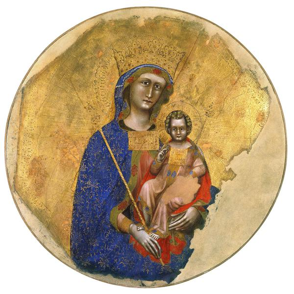 Angelic hosts; Madonna and Child; St. Mark the Evangelist