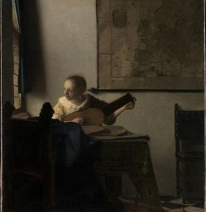 Vermeer, The woman with the lute from the Metropolitan Museum