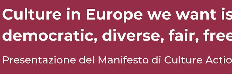 Presentazione del Manifesto di Culture Action Europe per le Elezioni Europee 2019