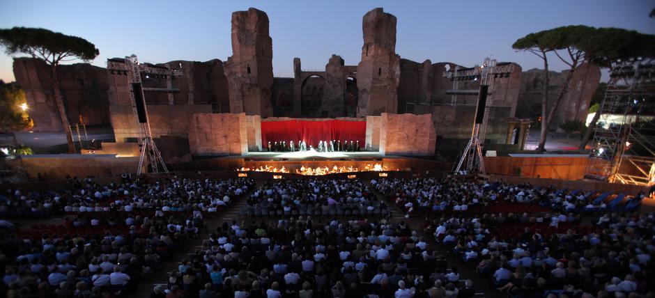 Visite al Tramonto alle Terme di Caracalla per la stagione estiva dell'opera