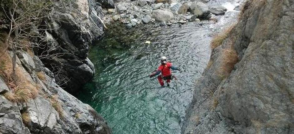 Nel Parco Beigua, a fare canyoning sul Rio Lerca