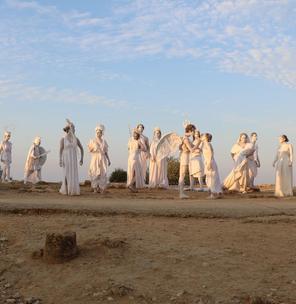 Lo spettacolo dell'alba alla Valle dei Templi